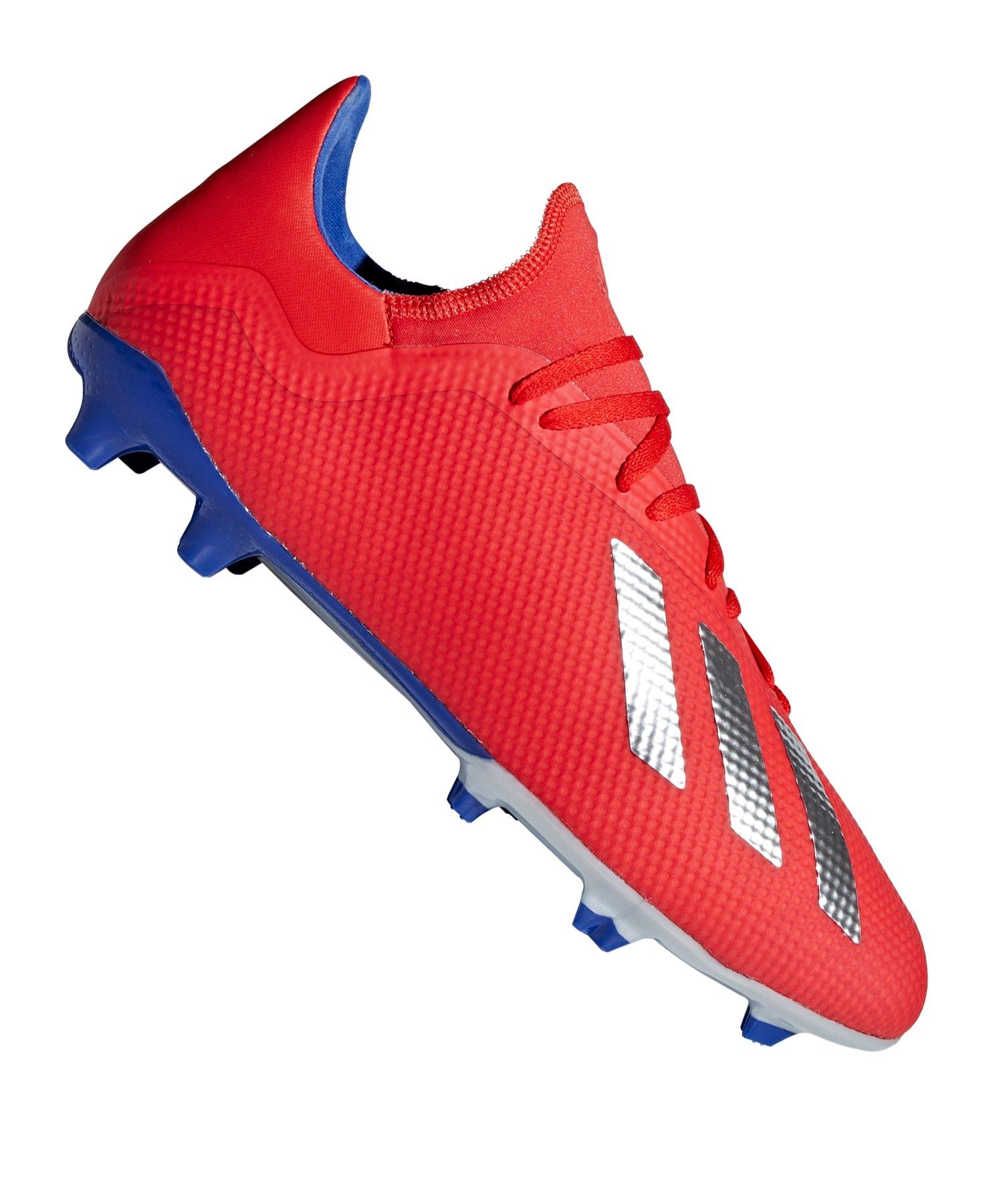 adidas X 18.3 FG Rot Blau - rot