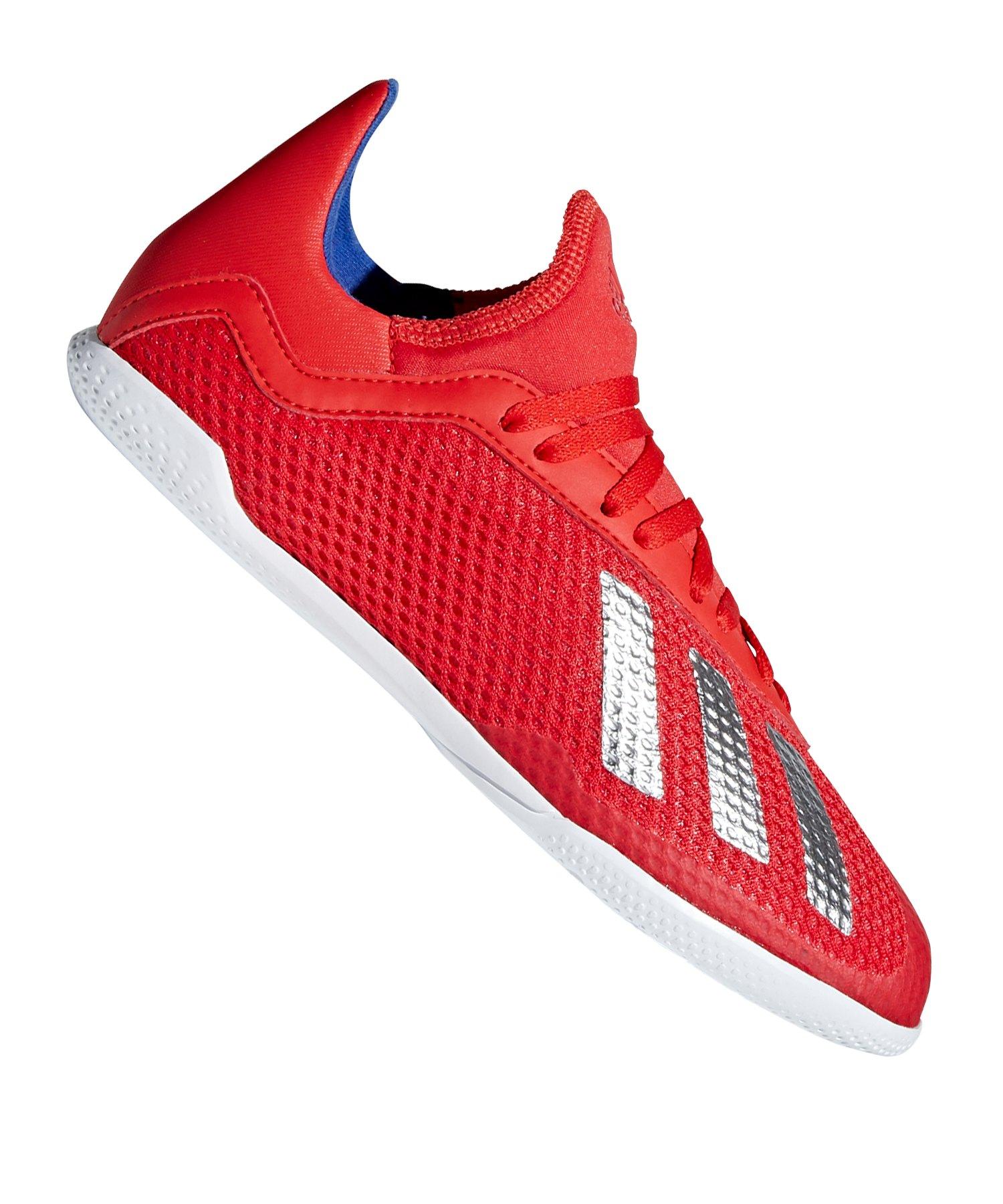 adidas X 18.3 IN Halle J Kids Rot Blau - rot