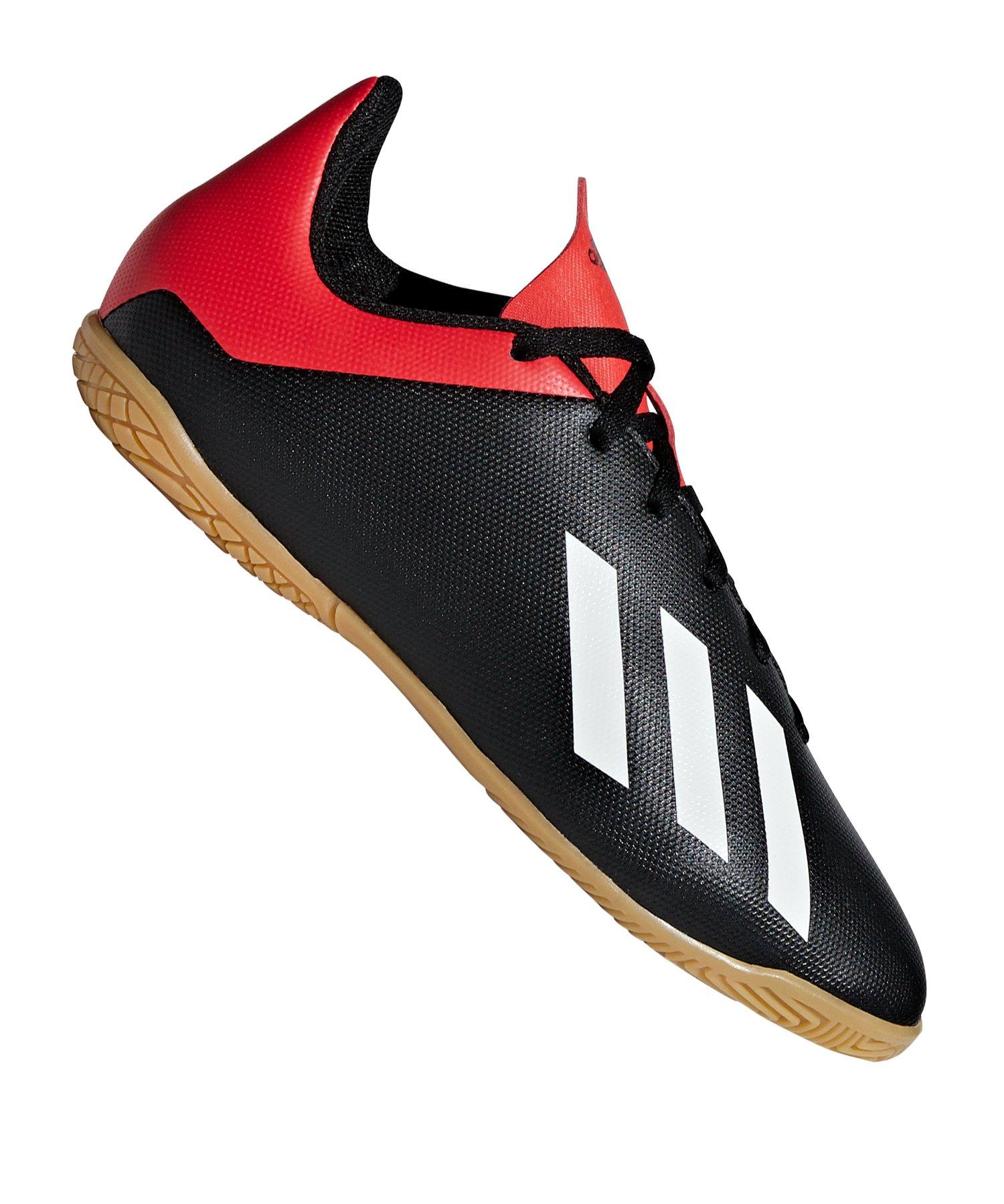 adidas X 18.4 IN Halle Kids Schwarz Rot - schwarz