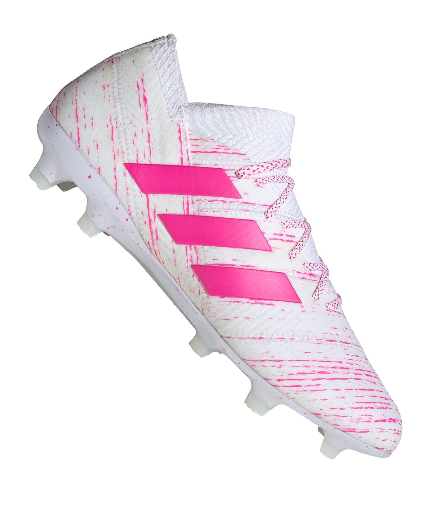 adidas NEMEZIZ 18.1 FG Weiss Pink - weiss
