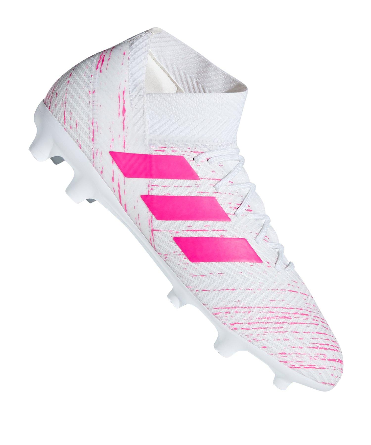 adidas NEMEZIZ 18.3 FG Weiss Pink - weiss