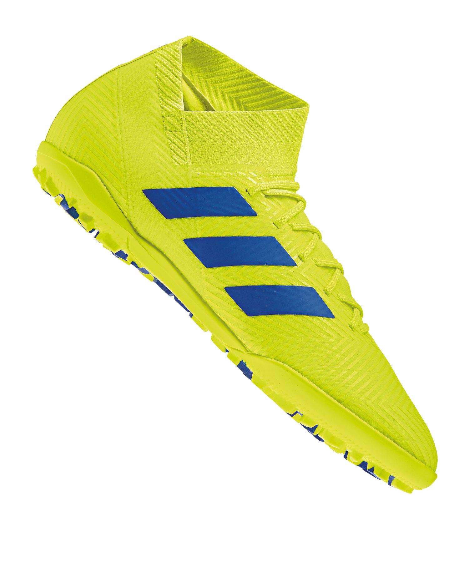 adidas NEMEZIZ 18.3 TF Gelb Blau - gelb