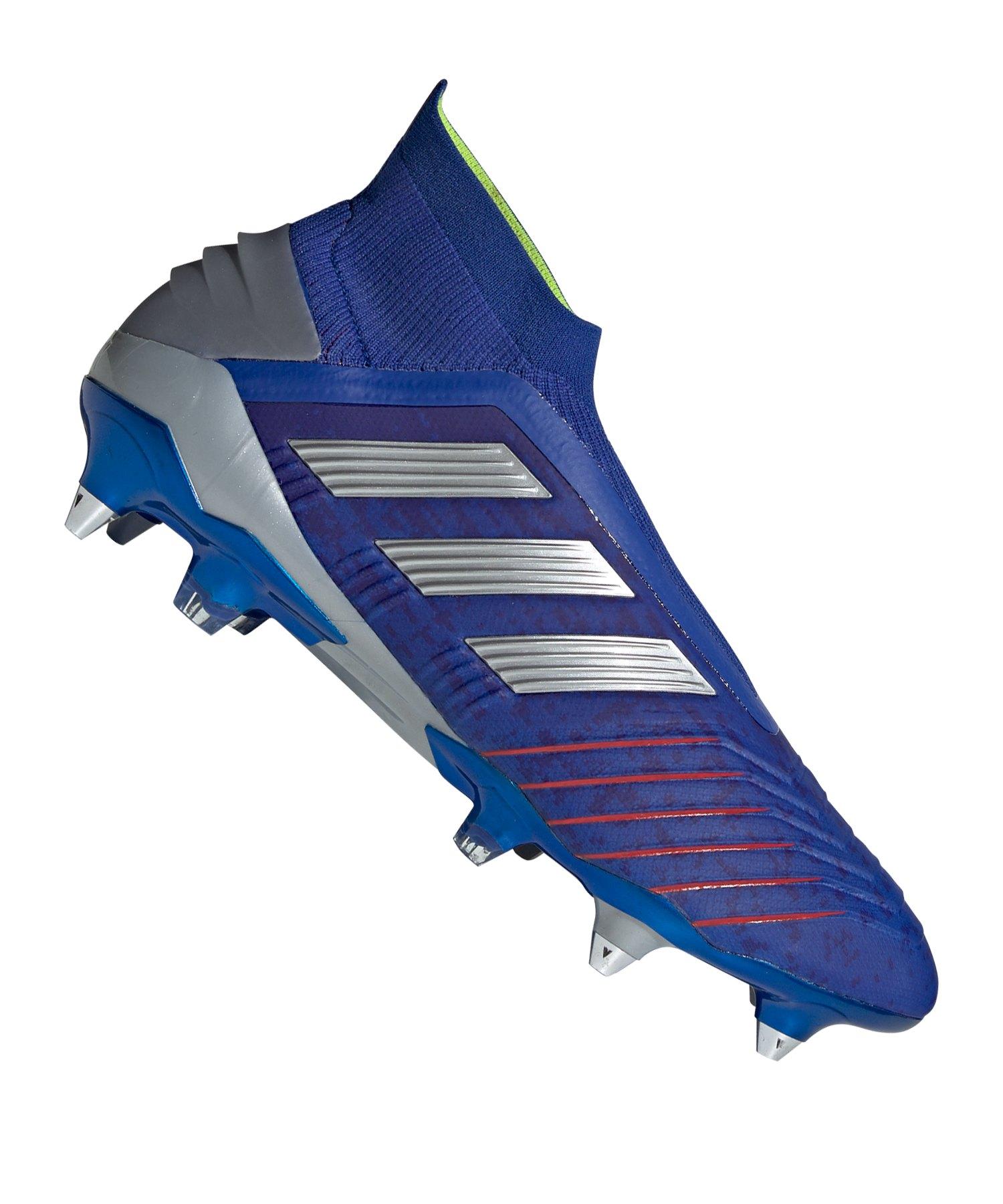 adidas Predator 19+ SG Blau Silber - blau