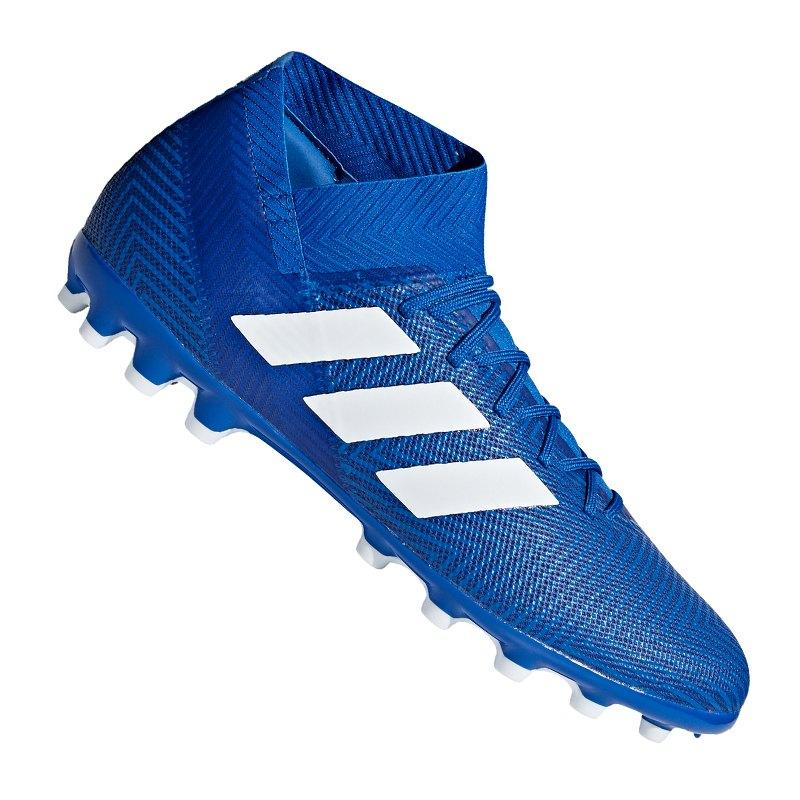 adidas NEMEZIZ 18.3 AG Blau Weiss - blau