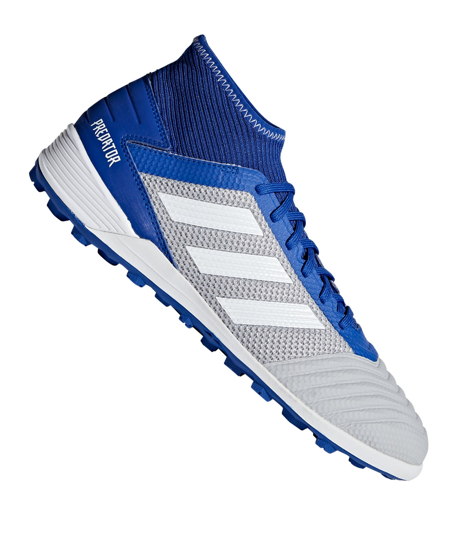 new authentic available sneakers for cheap adidas Predator 19.3 TF Grau Blau