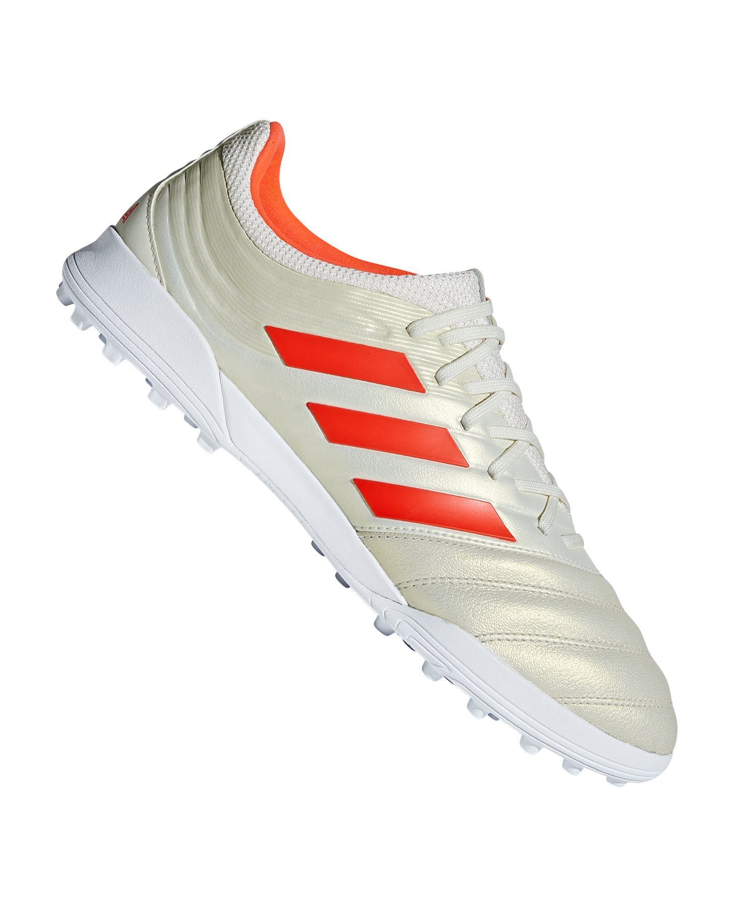 adidas COPA 19.3 TF Weiss Rot - weiss