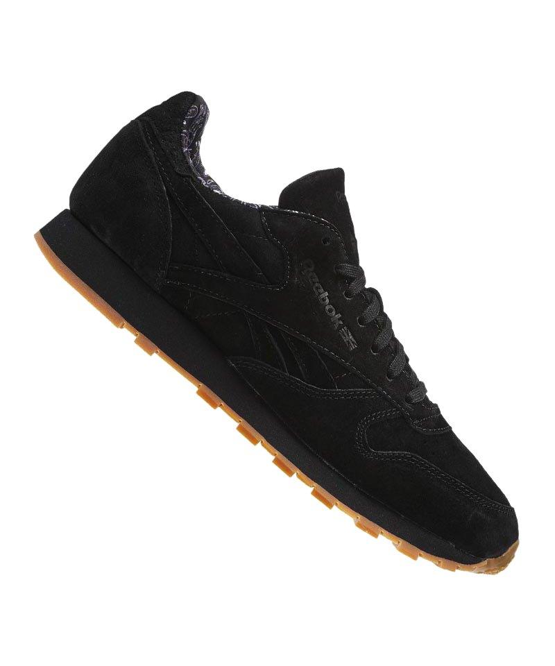 Reebok Sneaker CL Leather TDC Schwarz Weiss - schwarz