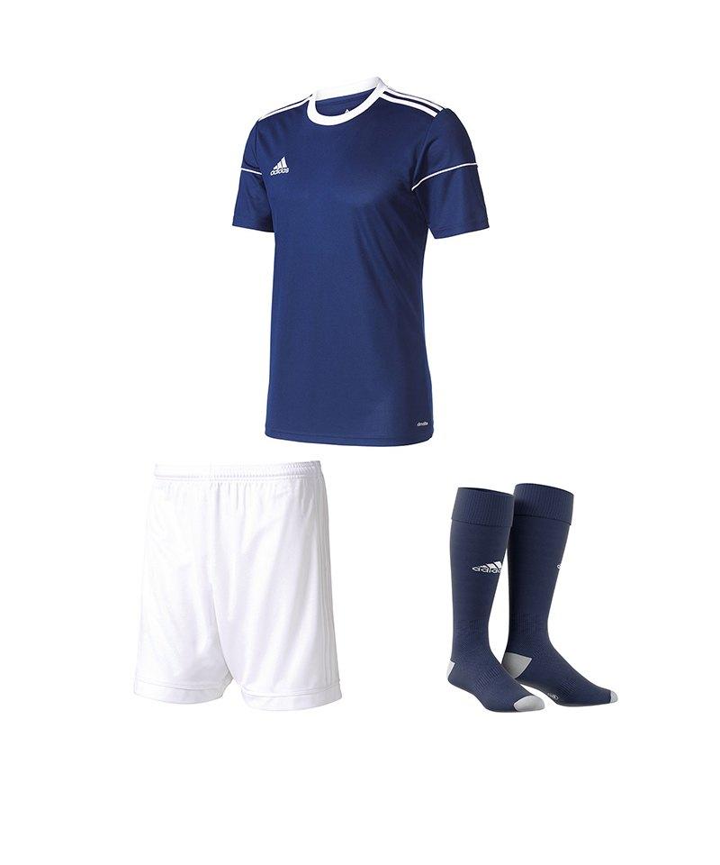 adidas Trikotset Squadra 17 Dunkelblau Weiss - blau