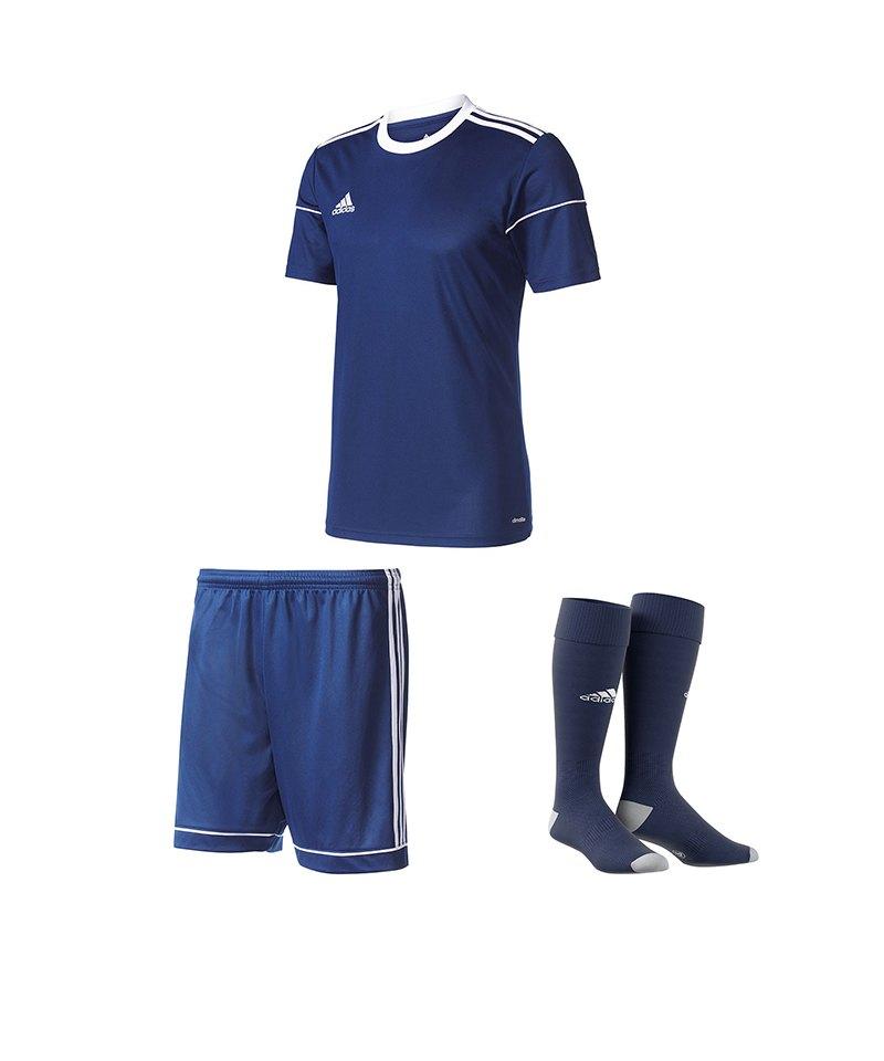 adidas Trikotset Squadra 17 Dunkelblau - blau
