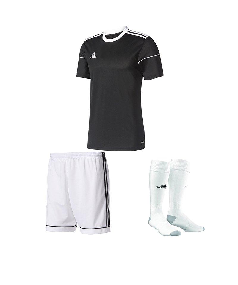 adidas Trikotset Squadra 17 Schwarz Weiss - schwarz