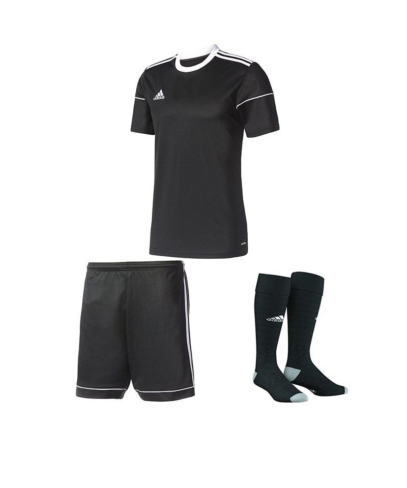 adidas Trikotset Squadra 17 Schwarz - schwarz