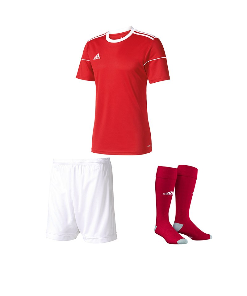 adidas Trikotset Squadra 17 Rot Weiss - rot