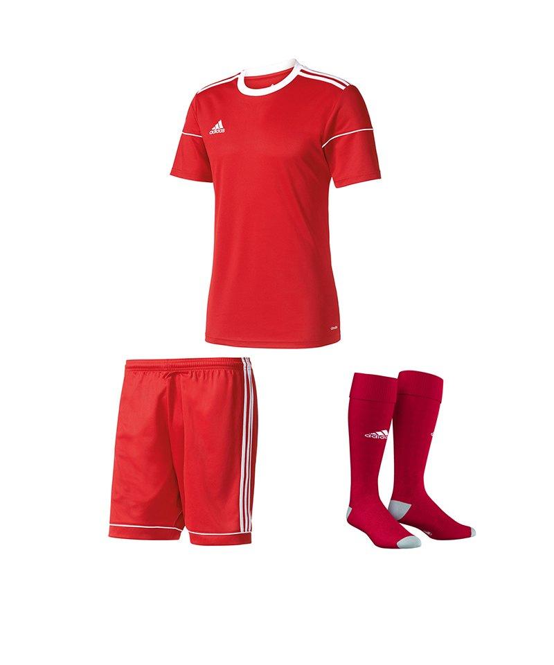 adidas Trikotset Squadra 17 Rot - rot