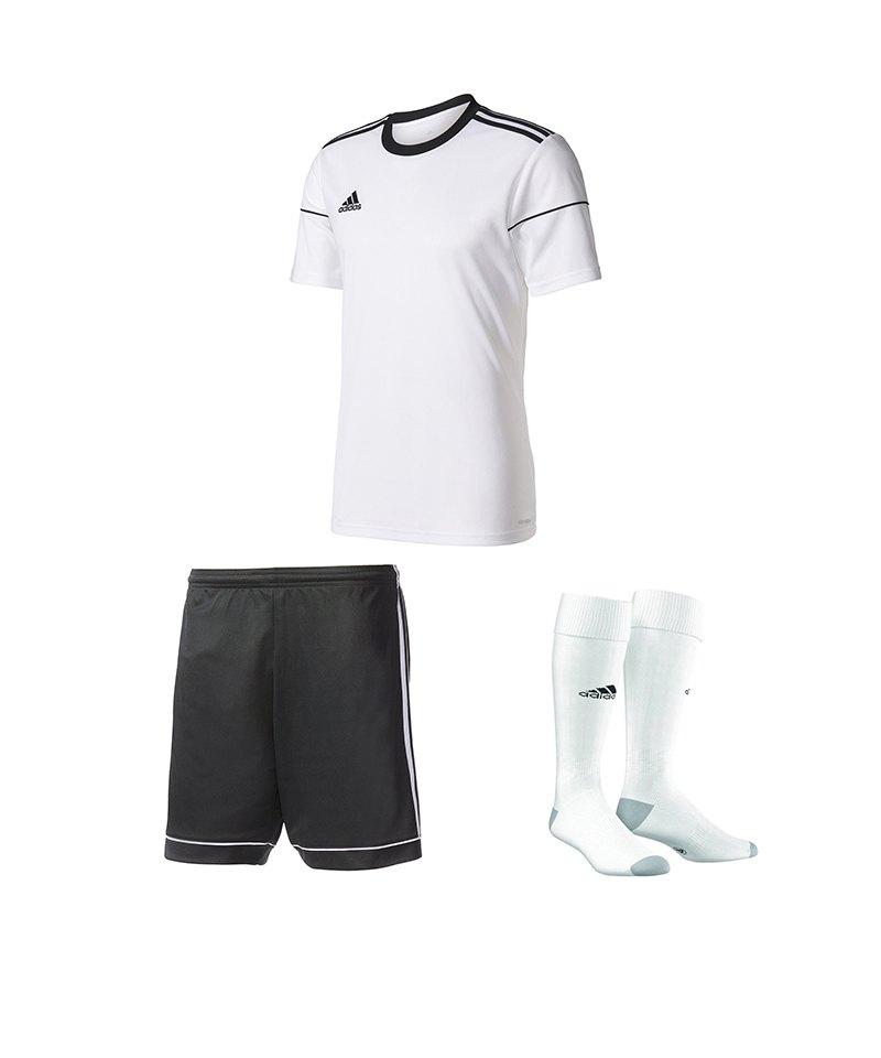 adidas Trikotset Squadra 17 Weiss Schwarz - weiss