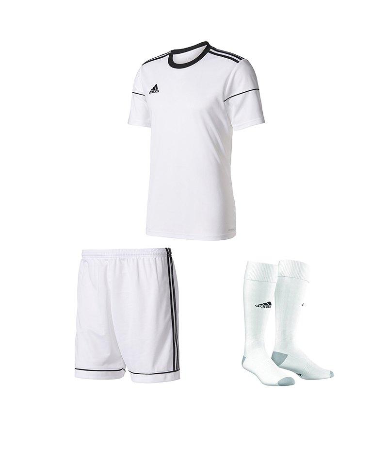 adidas Trikotset Squadra 17 Weiss - weiss