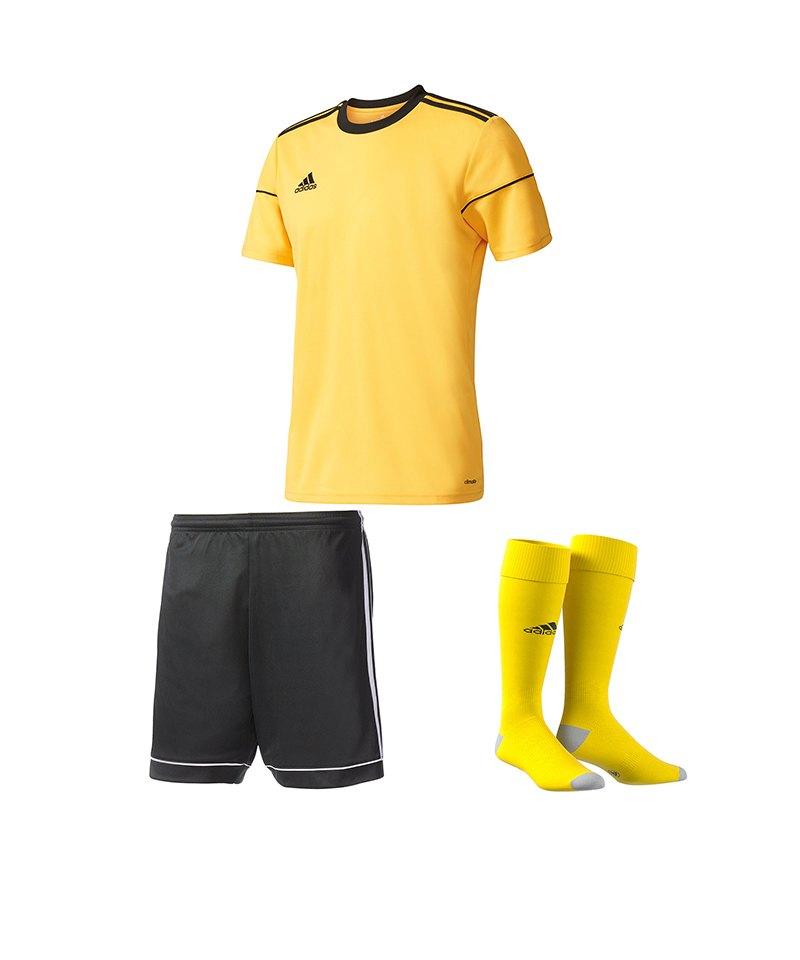 adidas Trikotset Squadra 17 Gelb Schwarz - gelb