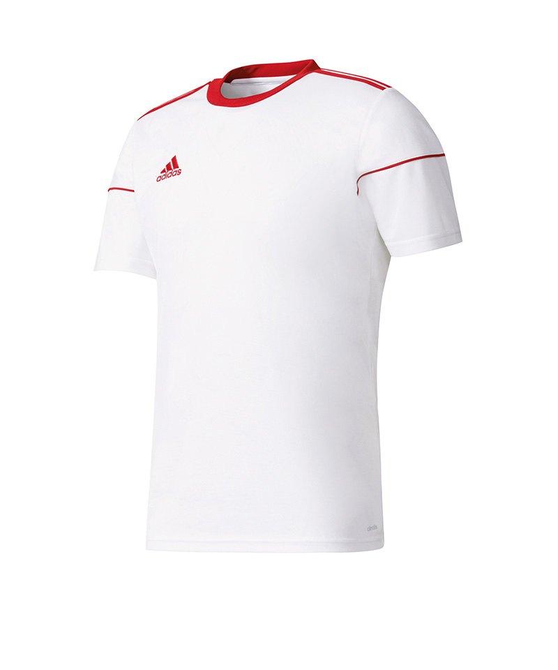 adidas Trikot Squadra 17 kurzarm Weiss Rot - weiss