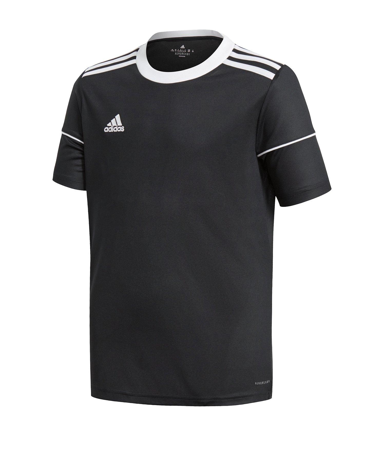 adidas Squadra 17 Trikot KA Kids Schwarz Weiss - schwarz
