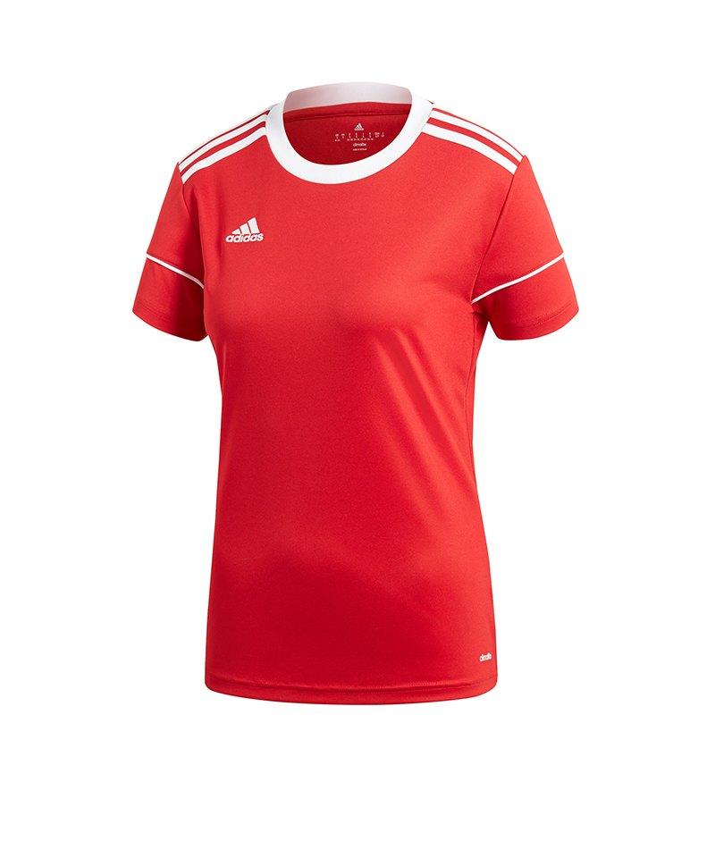 adidas Squadra 17 Trikot kurzarm Damen Rot Weiss - rot