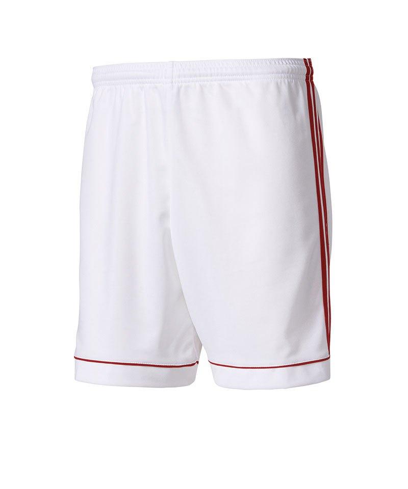 adidas Short Squadra 17 ohne Innenslip Weiss Rot - weiss