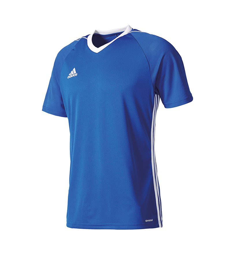 adidas Trikot Tiro 17 kurzarm blau weiss - blau