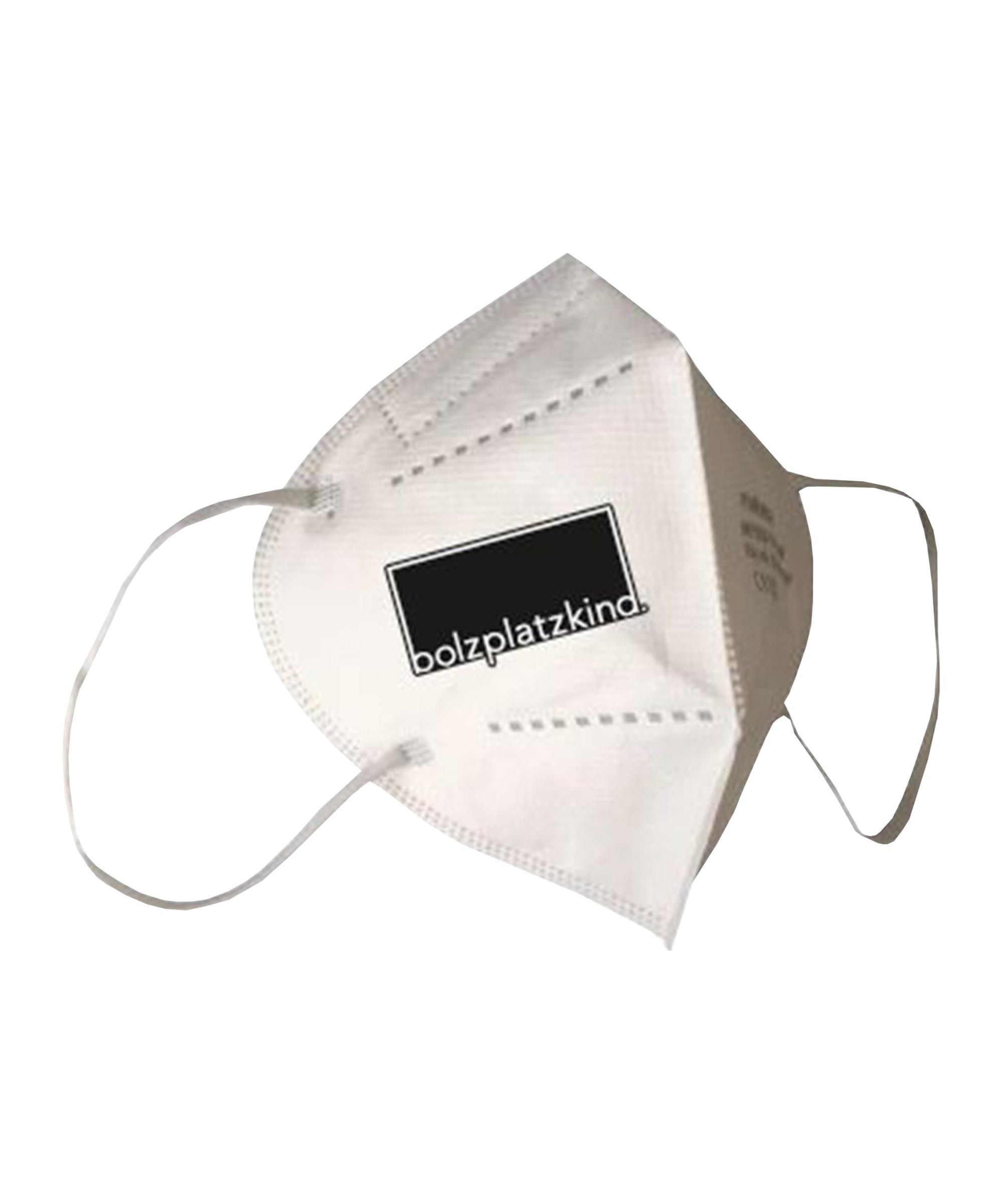 Bolzplatzkind FFP2 Einweg-Gesichtsmaske CE Weiss - weiss