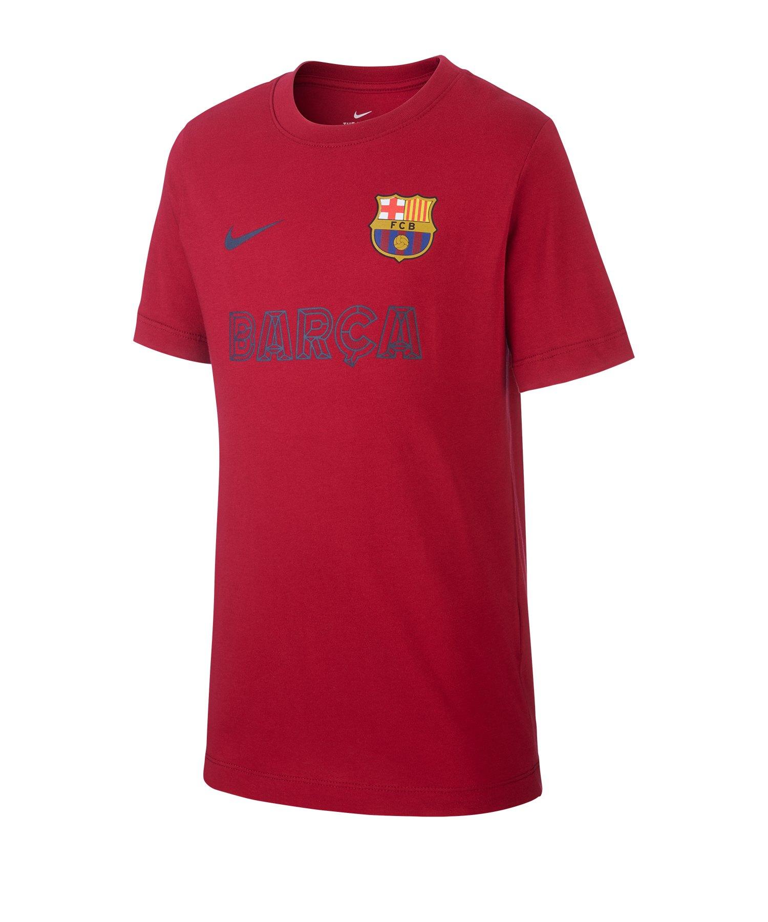 Nike FC Barcelona Core Match T-Shirt Kids F620 - Rot