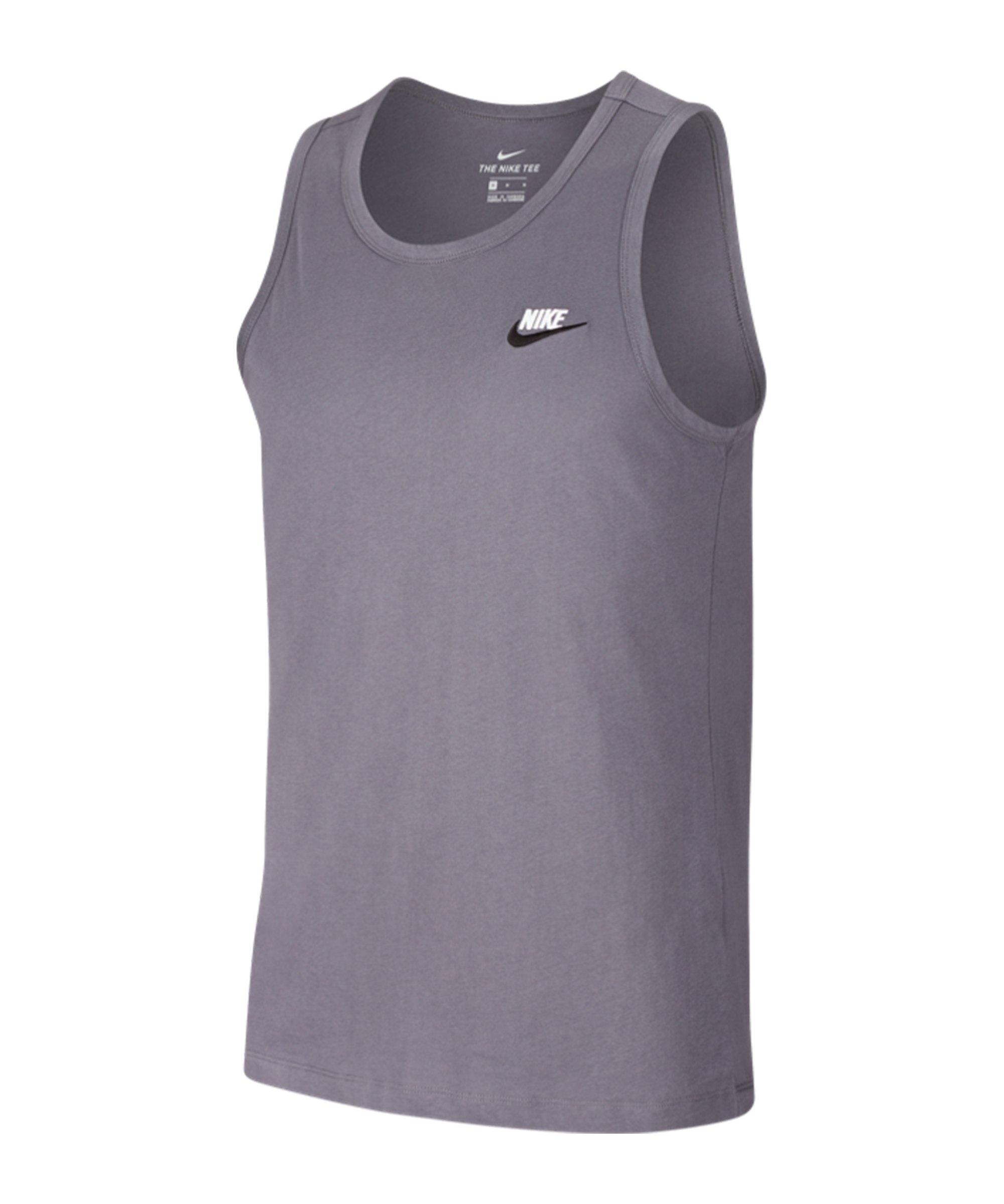 Nike Club Tanktop Grau Schwarz F022 - grau