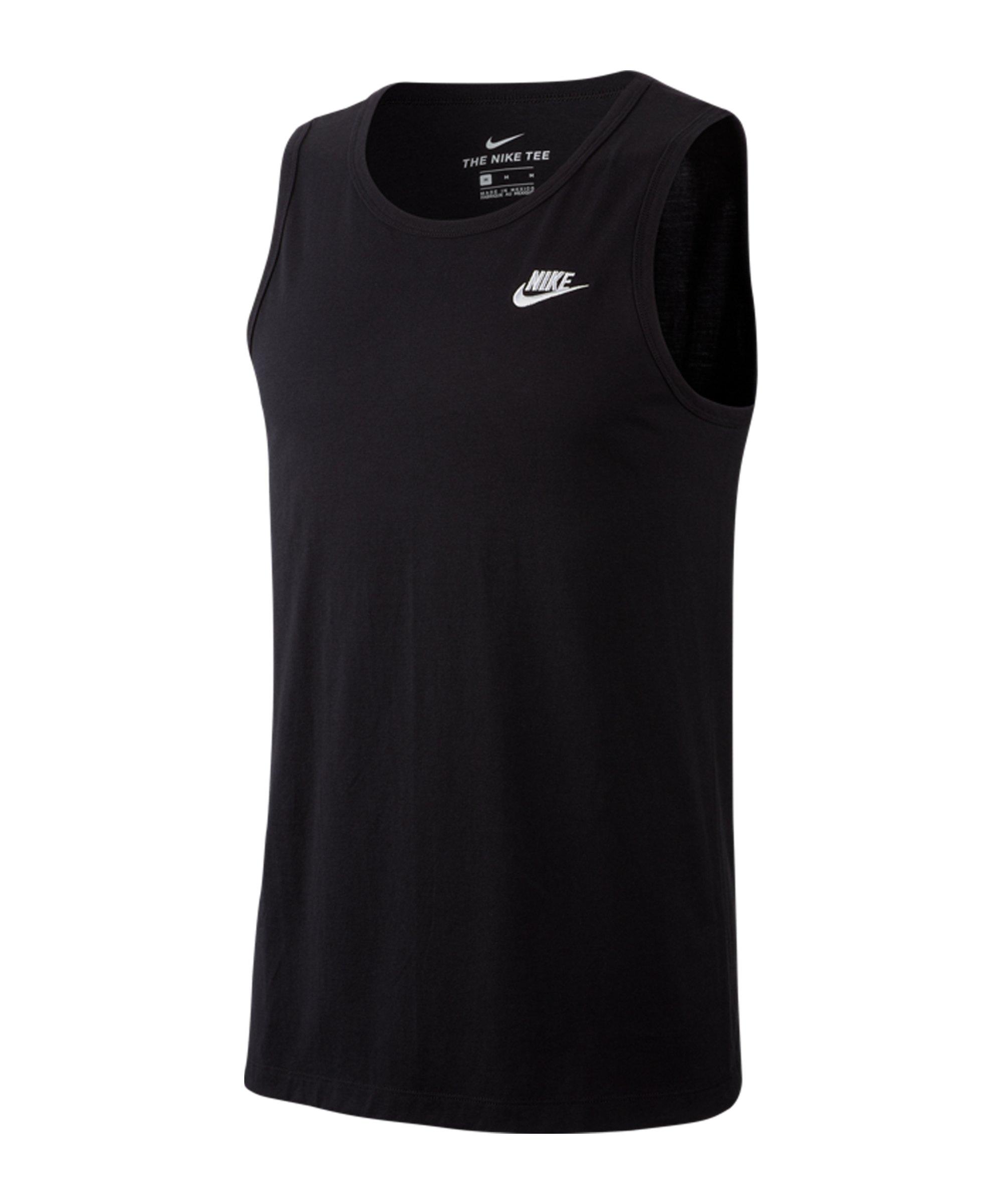 Nike Club Tanktop Schwarz F010 - schwarz