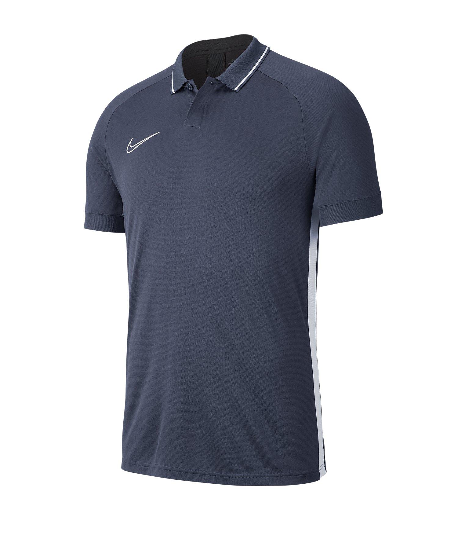 Nike Academy 19 Poloshirt Grau Weiss F060 - grau
