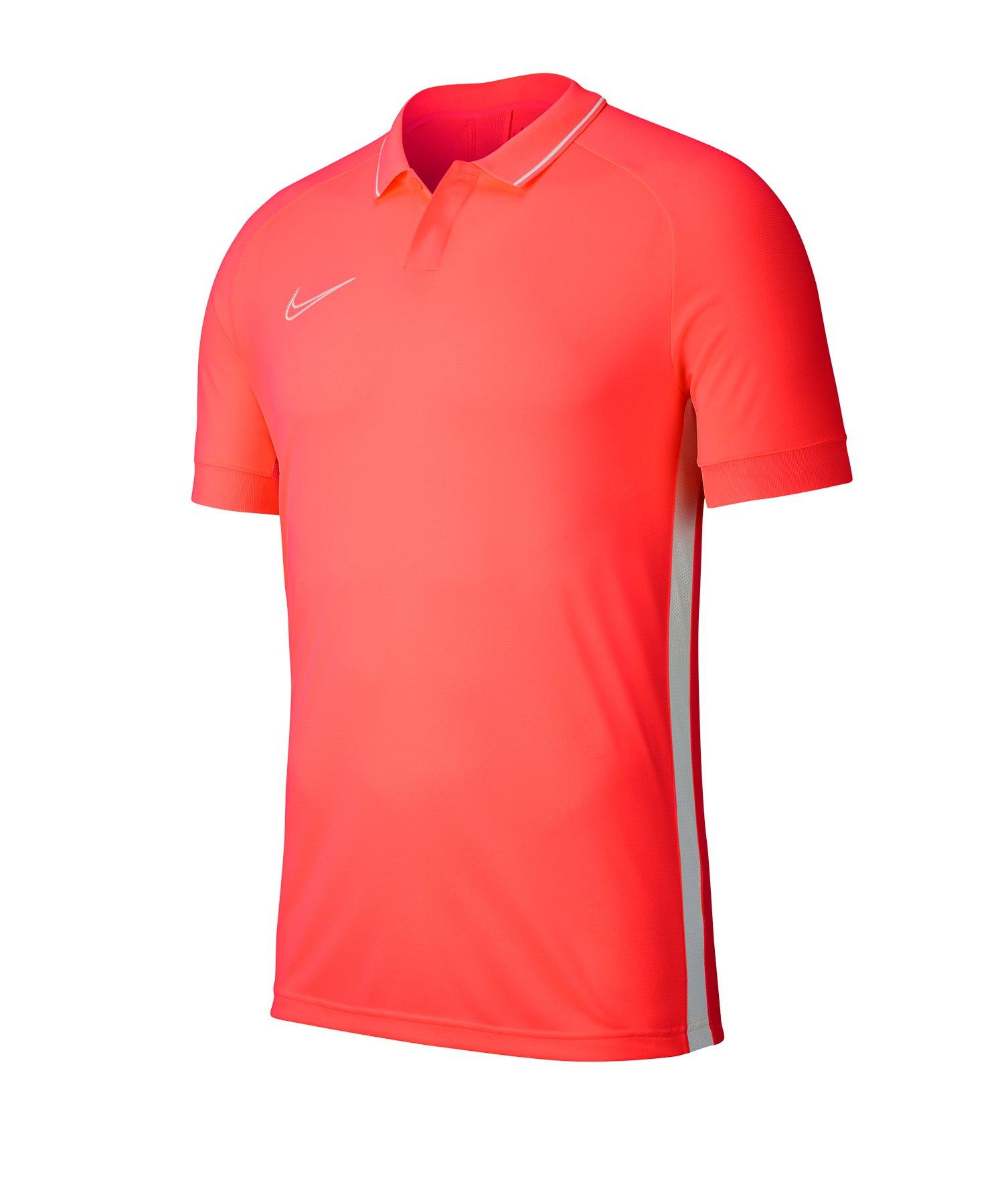 Nike Academy 19 Poloshirt Rot Weiss F671 - rot