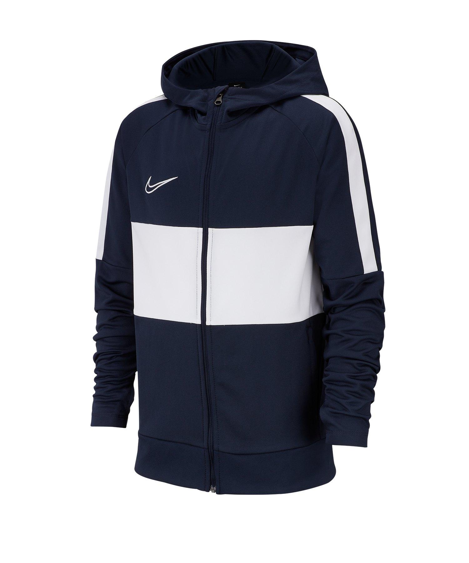 Nike Dri-FIT Academy I96 Kapuzenjacke Kids F451 - blau