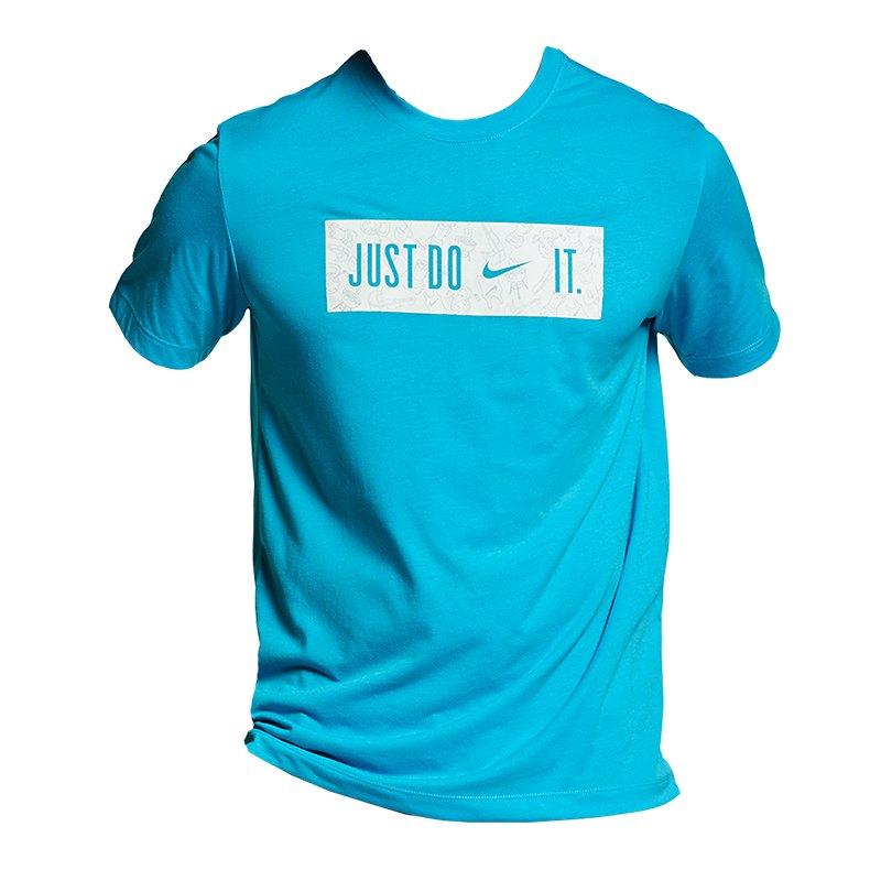 Nike Dry DB Block 2.0 Tee T-Shirt Blau F433 - Blau