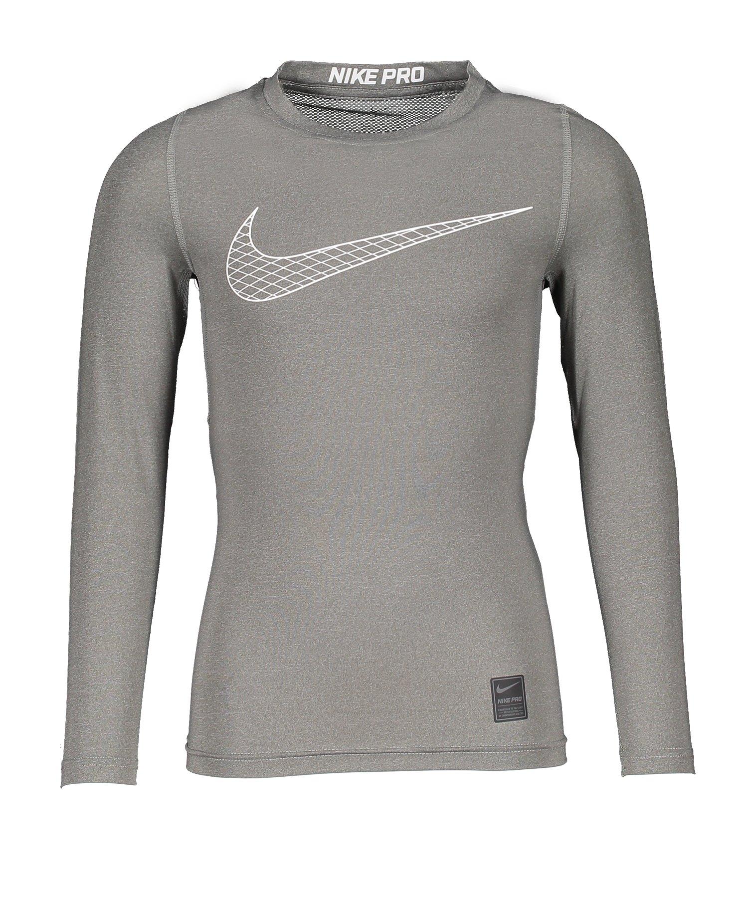 Nike Pro Longsleeve Shirt Kids Grau F091 - grau