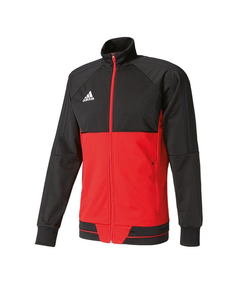 adidas Tiro 17 Trainingsjacke Schwarz Rot - schwarz