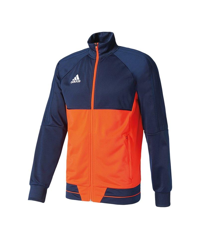 adidas Tiro 17 Trainingsjacke Blau Rot - blau