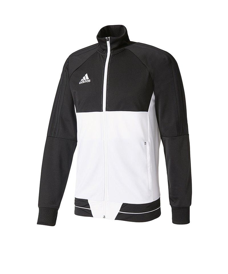 adidas Tiro 17 Trainingsjacke Kids Schwarz Weiss - schwarz
