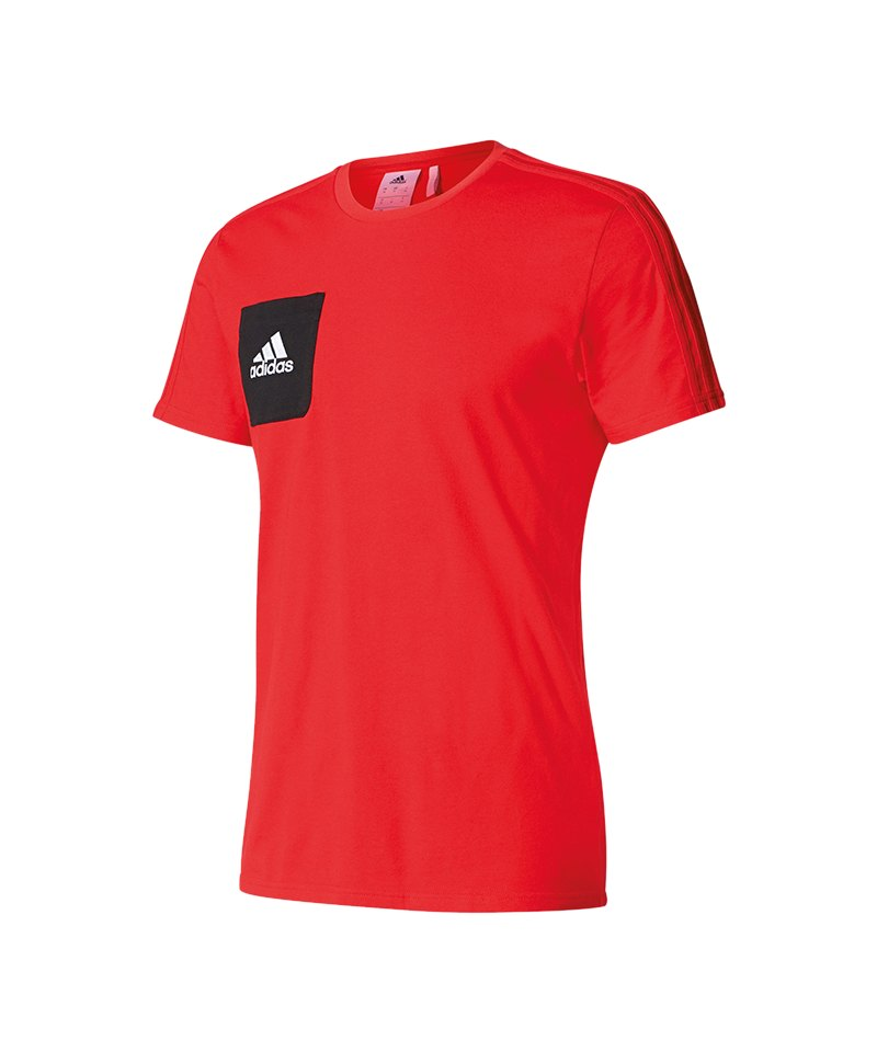 adidas Tiro 17 Tee T-Shirt Rot Schwarz - rot
