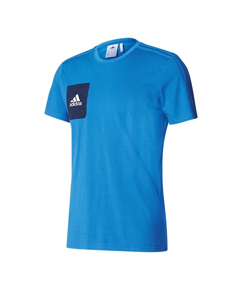adidas Tiro 17 Tee T-Shirt Blau - blau
