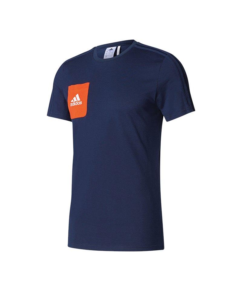 adidas Tiro 17 Tee T-Shirt Dunkelblau - blau