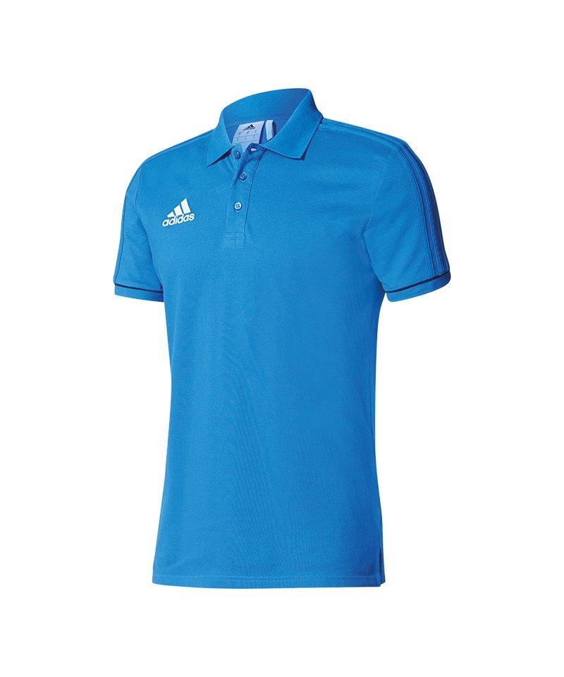 adidas Tiro 17 Poloshirt Blau - blau