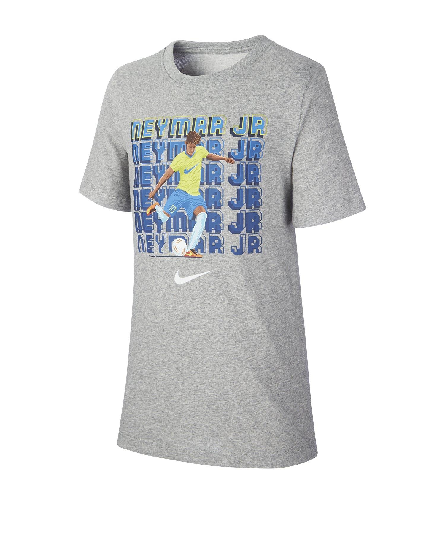 Nike Neymar Jr. Soccer Hero Tee T-Shirt Kids F063 - Grau