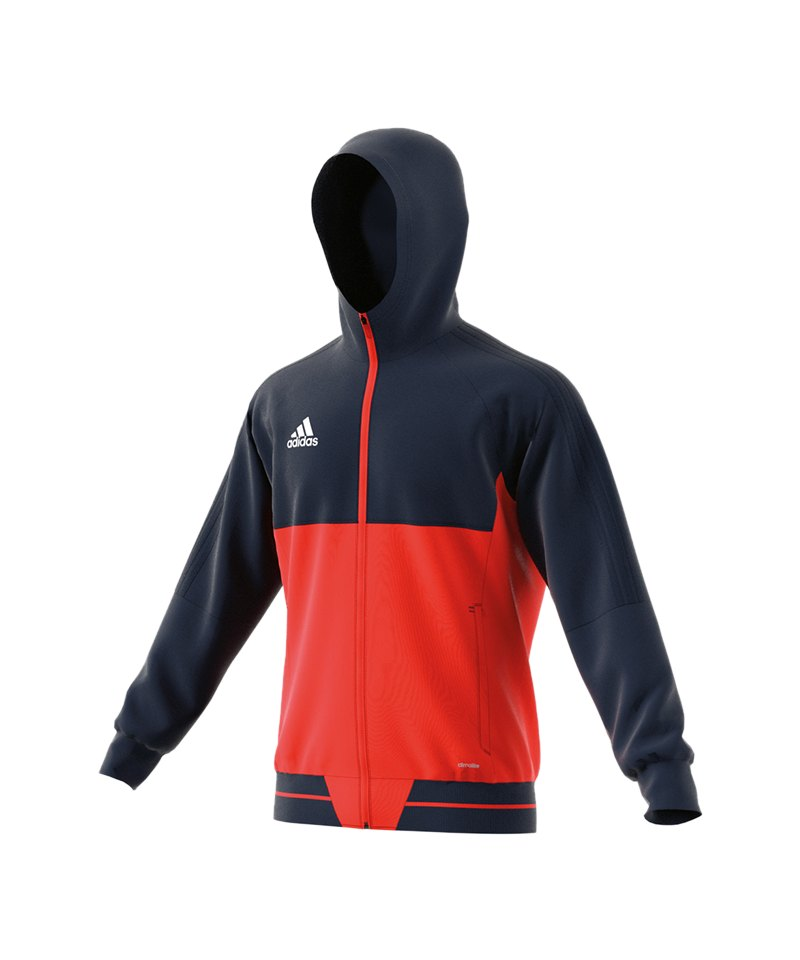 adidas Tiro 17 Präsentationsjacke Blau Orange - blau