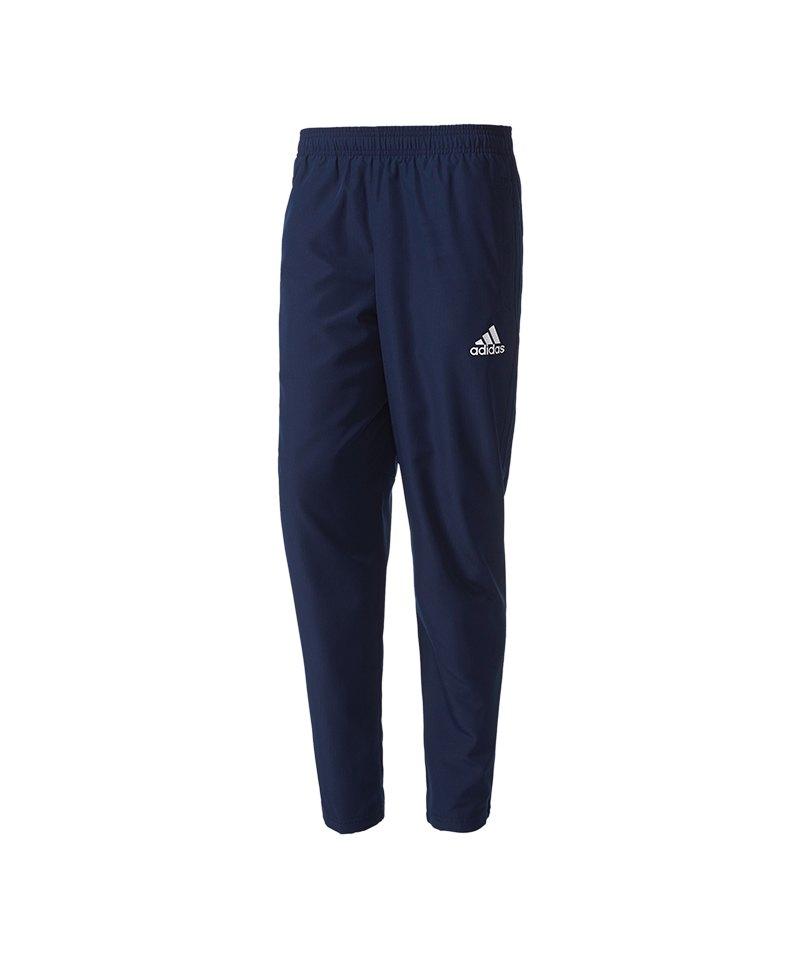 adidas Hose lang Tiro 17 Woven Pant Blau Weiss - blau