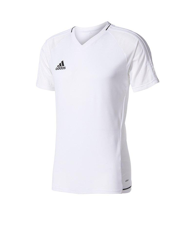 adidas Trainingsshirt Tiro 17 Weiss Schwarz - weiss
