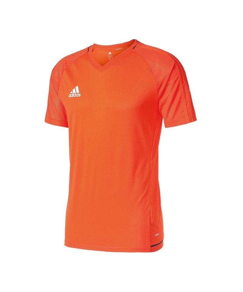 adidas Trainingsshirt Tiro 17 Orange Blau - orange