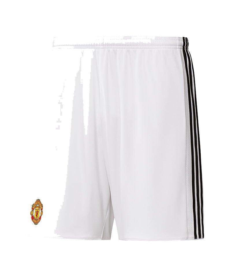 adidas Short Home Manchester United 17/18 Weiss - weiss