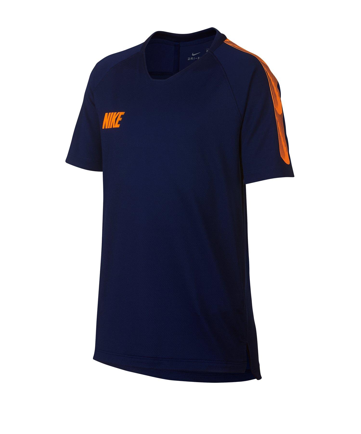 Nike Dry Squad Breathe T-Shirt Kids Blau F492 - Blau