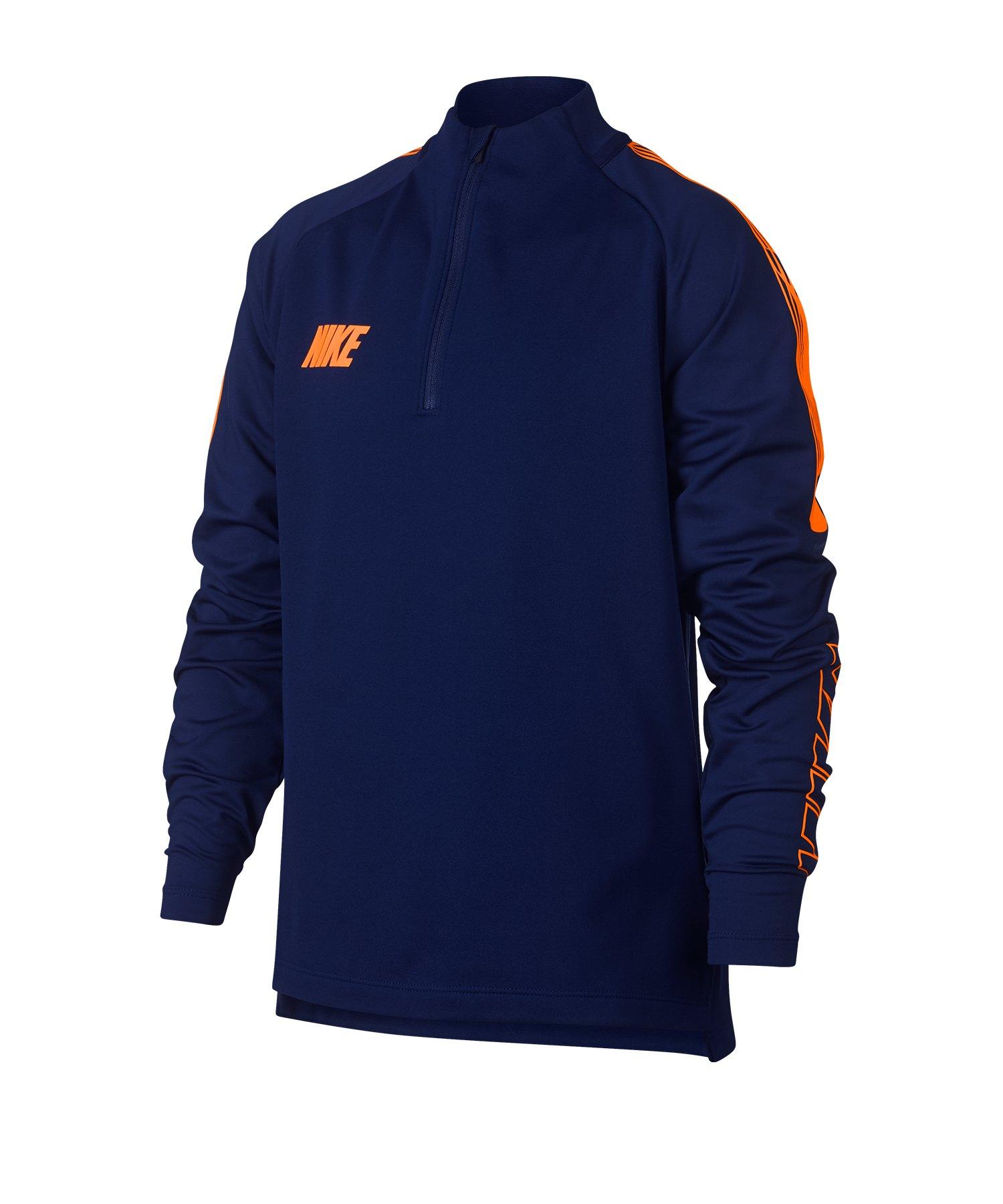 Nike Dry Squad Drill Top Sweatshirt Kids Blau F492 - Blau
