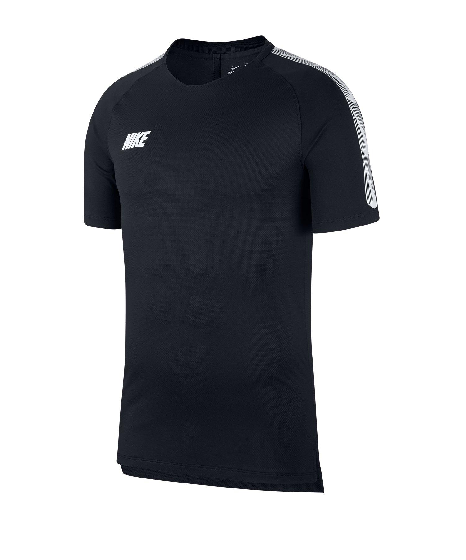Nike Dry Squad Breathe T-Shirt Schwarz Weiss F011 - schwarz